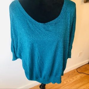 Elle shimmering turquoise sweater